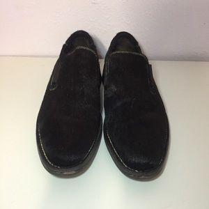Cole Haan Black Calf Hair Men's Loafers